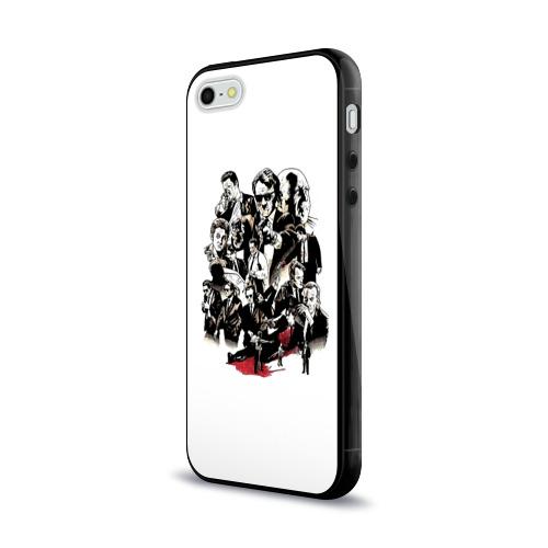 Чехол для Apple iPhone 5/5S силиконовый глянцевый  Фото 03, Бешеные псы