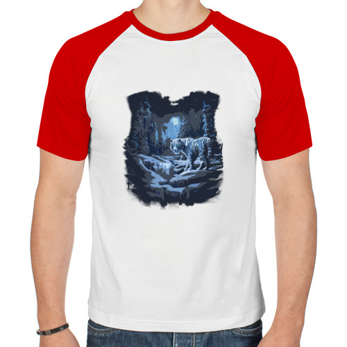 Мужская футболка реглан  Фото 01, Амурский тигр