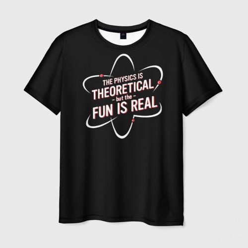 Мужская футболка 3D Физика и веселье Фото 01