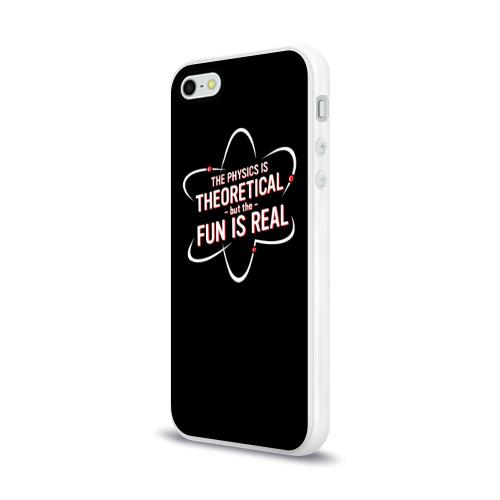 Чехол для Apple iPhone 5/5S силиконовый глянцевый Физика и веселье Фото 01