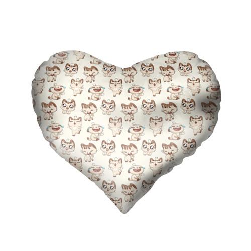 Подушка 3D сердце  Фото 02, Стикеры котик