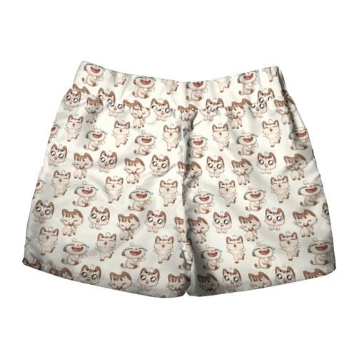 Женские шорты 3D  Фото 02, Стикеры котик