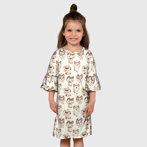 Детское платье 3D  Фото 01, Стикеры котик