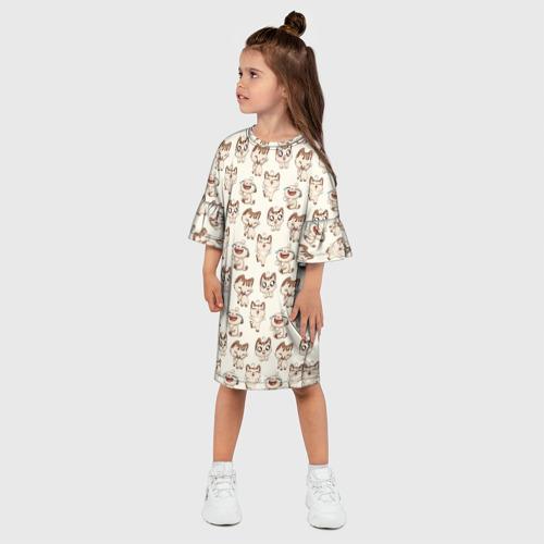 Детское платье 3D  Фото 03, Стикеры котик