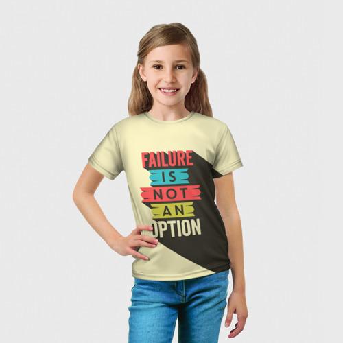 Детская футболка 3D  Фото 03, Failure is not an option
