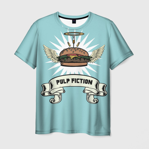Мужская футболка 3D Четвертьфунтовый чизбургер