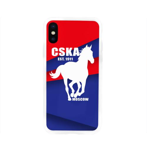 Чехол для Apple iPhone X силиконовый глянцевый CSKA est. 1911