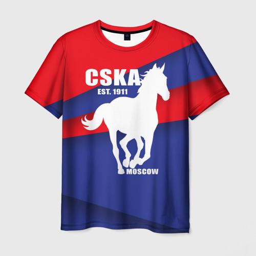 Мужская футболка 3D  Фото 03, CSKA est. 1911
