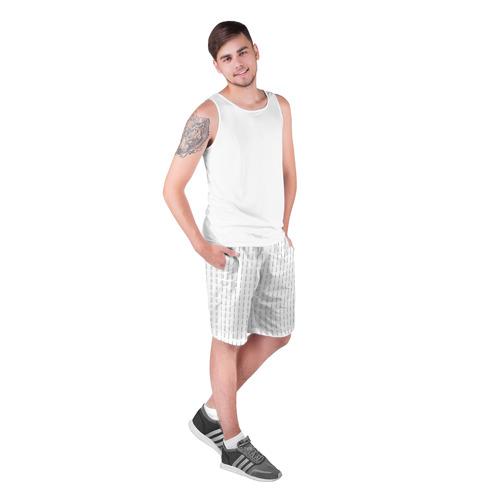 Мужские шорты 3D  Фото 03, Fuck You (Цвет Белый)