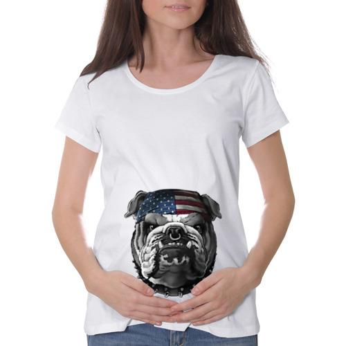 Футболка для беременных хлопок  Фото 01, Бульдог в бандане