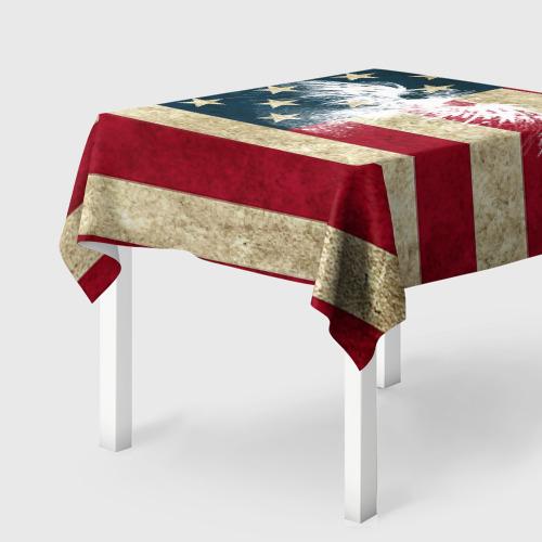 Скатерть 3D  Фото 01, Флаг США с белым орлом