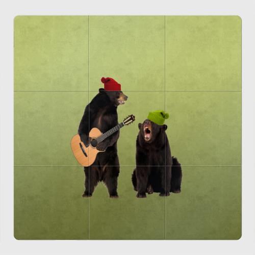 Магнитный плакат 3Х3 2 медведя и гитара