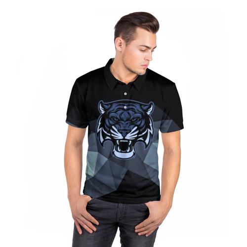Мужская рубашка поло 3D Тигр