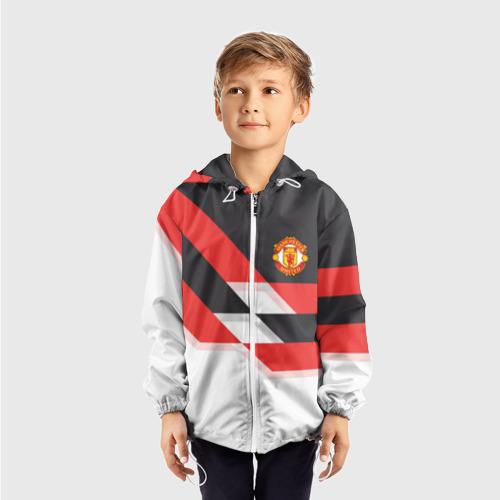 Детская ветровка 3D  Фото 03, Manchester United - Stripe