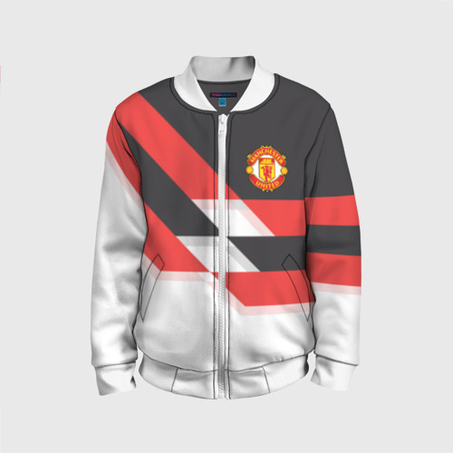 Детский бомбер 3D Manchester United - Stripe