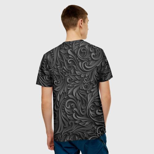 Мужская футболка 3D  Фото 02, Вырезанный Узор