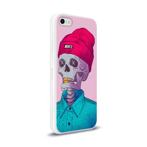 Чехол для Apple iPhone 5/5S силиконовый глянцевый  Фото 02, Скелет
