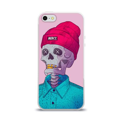 Чехол для Apple iPhone 5/5S силиконовый глянцевый  Фото 01, Скелет