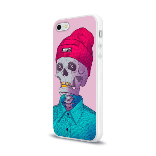 Чехол для Apple iPhone 5/5S силиконовый глянцевый  Фото 03, Скелет