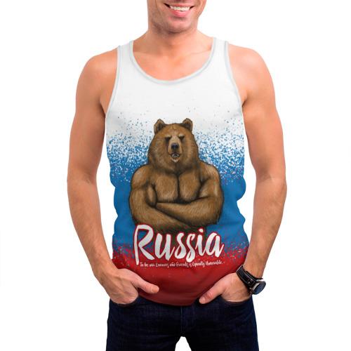 Мужская майка 3D Russian Bear Фото 01