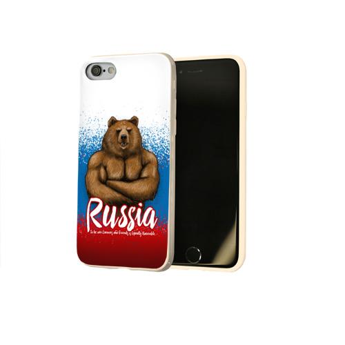 Чехол для Apple iPhone 8 силиконовый глянцевый Russian Bear Фото 01