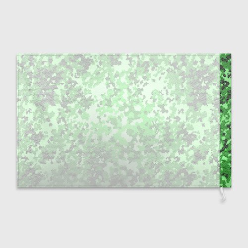 Флаг 3D  Фото 02, Камуфляж зеленые соты