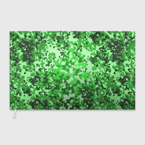 Флаг 3D  Фото 03, Камуфляж зеленые соты
