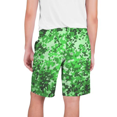 Мужские шорты 3D  Фото 02, Камуфляж зеленые соты