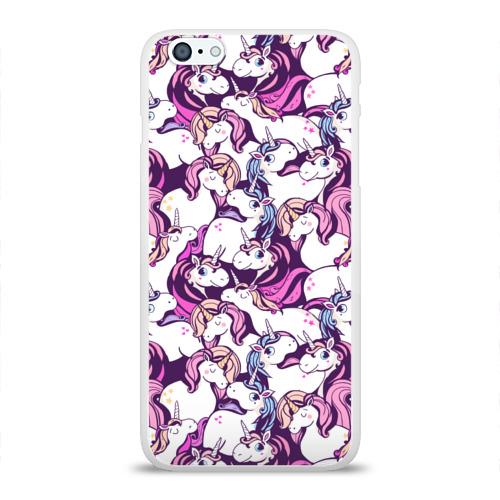 Чехол для Apple iPhone 6Plus/6SPlus силиконовый глянцевый  Фото 01, unicorn