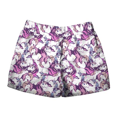 Женские шорты 3D  Фото 02, unicorn