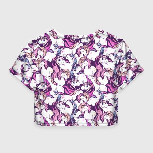 Женская футболка Crop-top 3D unicorn Фото 01