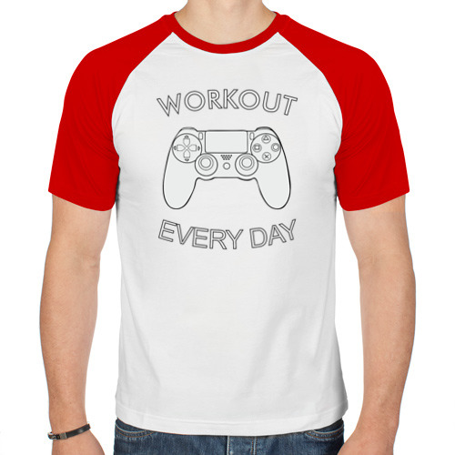 Мужская футболка реглан  Фото 01, Workout