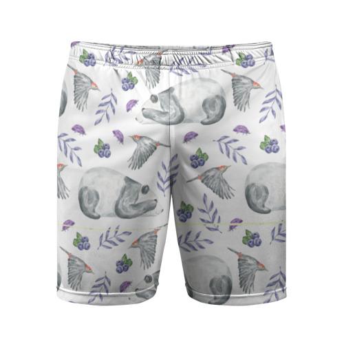 Мужские шорты 3D спортивные Панда