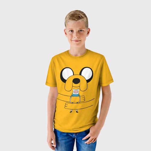 Детская футболка 3D  Фото 01, Jake Hugs Finn