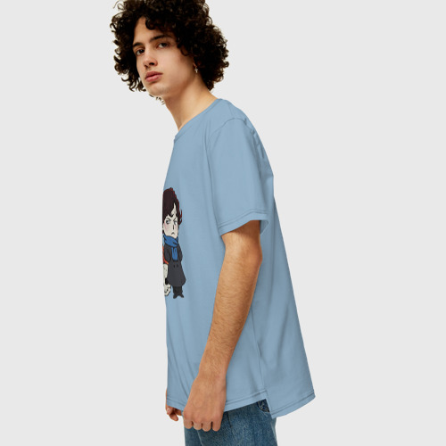 Мужская футболка хлопок Oversize Sherlock Фото 01