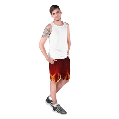 Мужские шорты 3D  Фото 03, Пламя