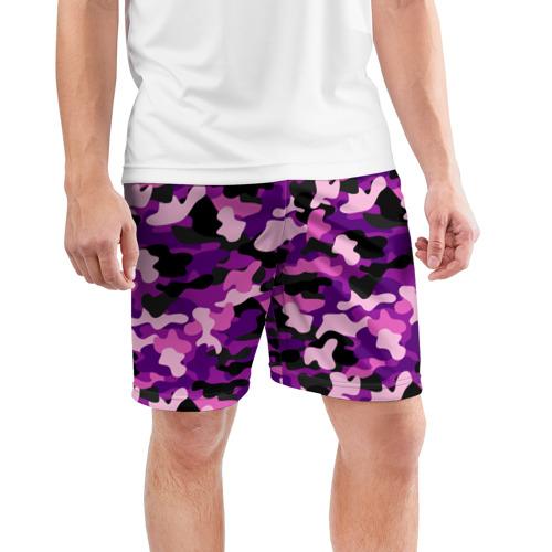 Мужские шорты 3D спортивные  Фото 03, Камуфляж