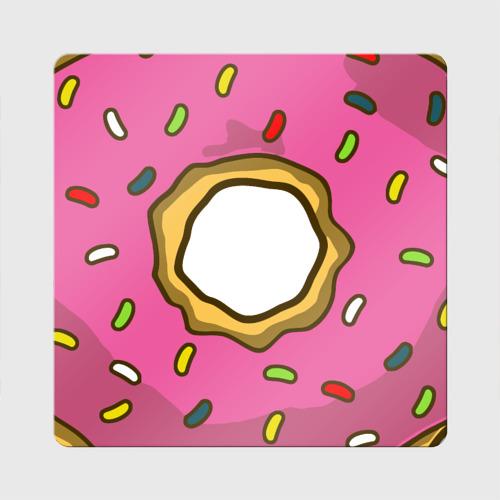 Магнит виниловый Квадрат  Фото 01, Пончик