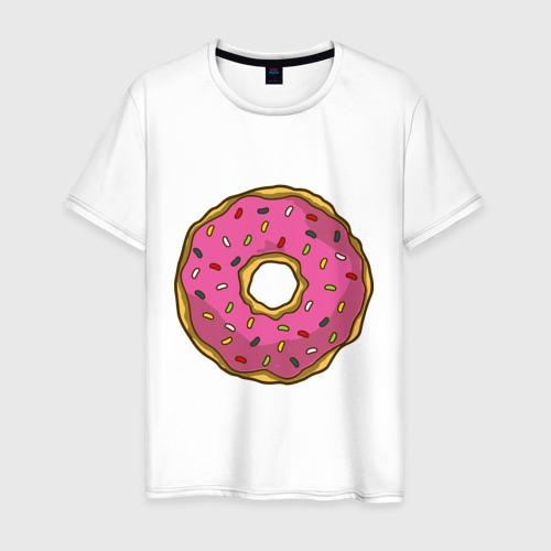 Мужская футболка хлопок Пончик