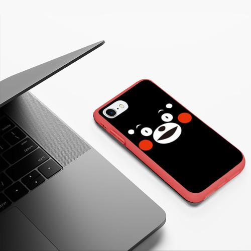 Чехол для iPhone 7/8 матовый Kumamon краснощекий Фото 01