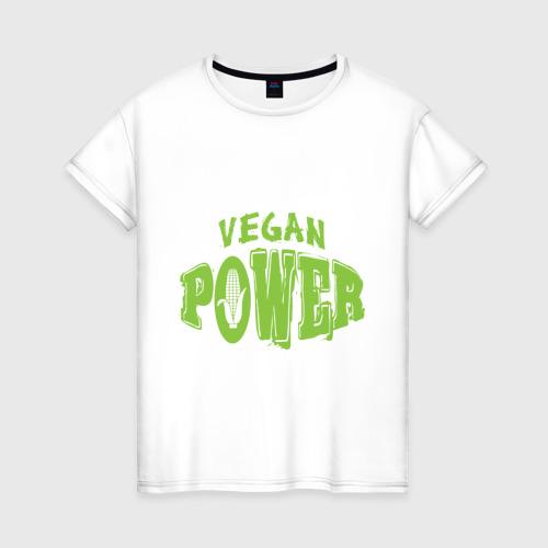 Женская футболка хлопок Vegan Power