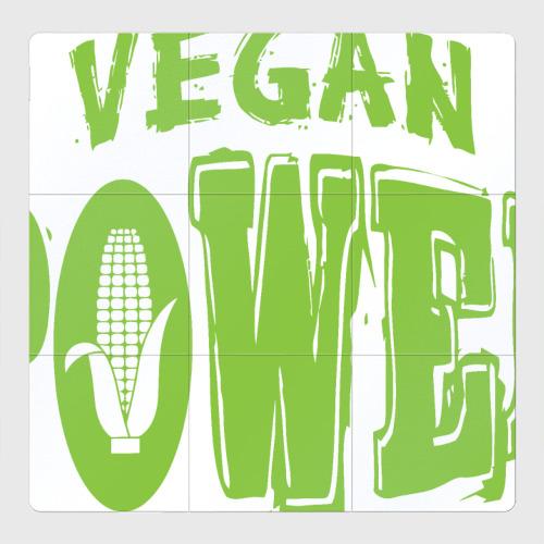 Магнитный плакат 3Х3 Vegan Power