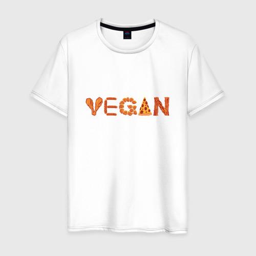 Мужская футболка хлопок Vegan