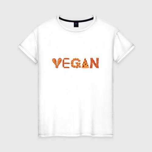 Женская футболка хлопок Vegan