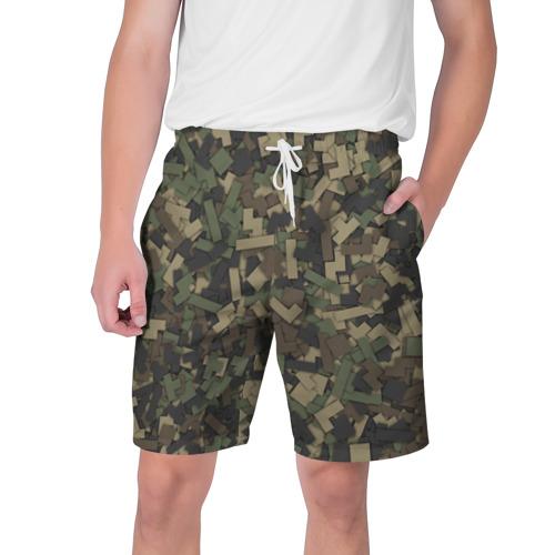 Мужские шорты 3D  Фото 01, Камуфляж - тетрис