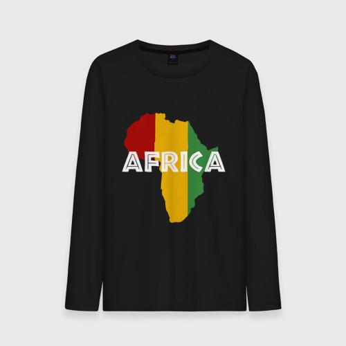 Мужской лонгслив хлопок  Фото 01, Африка