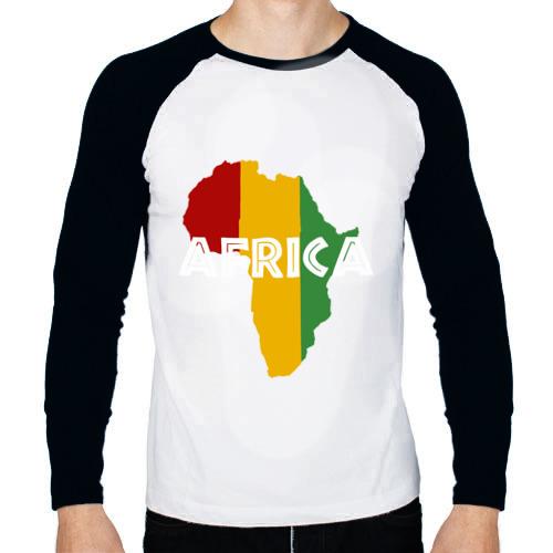 Мужской лонгслив реглан  Фото 01, Африка