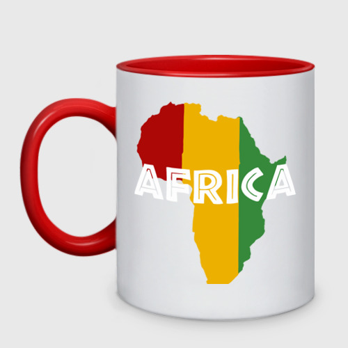 Кружка двухцветная Африка