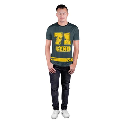 Мужская футболка 3D спортивная Номер и прозвище Е. Малкина