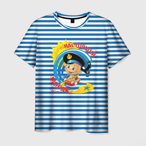 Мужская футболка 3D  Фото 03, Настоящий Моряк
